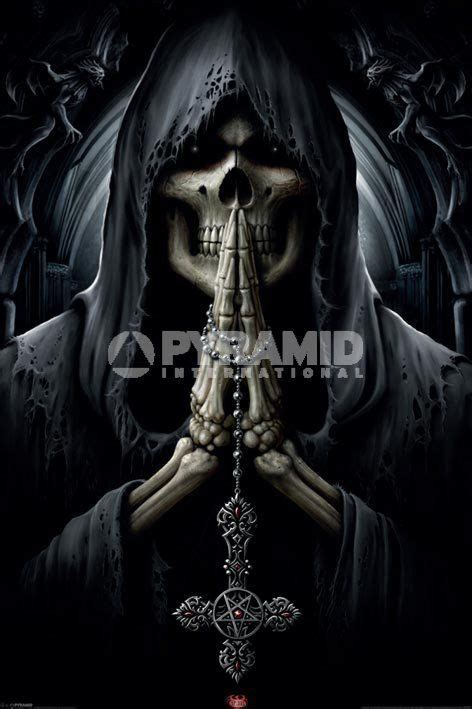 spiral death prayer poster 61x91cm new pentagram cross