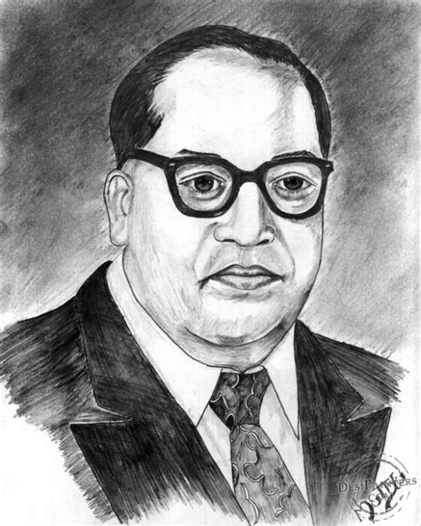 R Sketches by Pencil Sketch Of Dr B R Ambedkar Desipainters