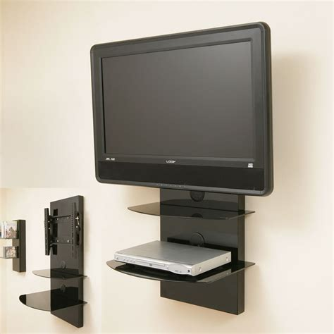 Wall Bracket For Tv With Shelf tv wall mount bracket shelves tilt vesa lcd up to32 ebay