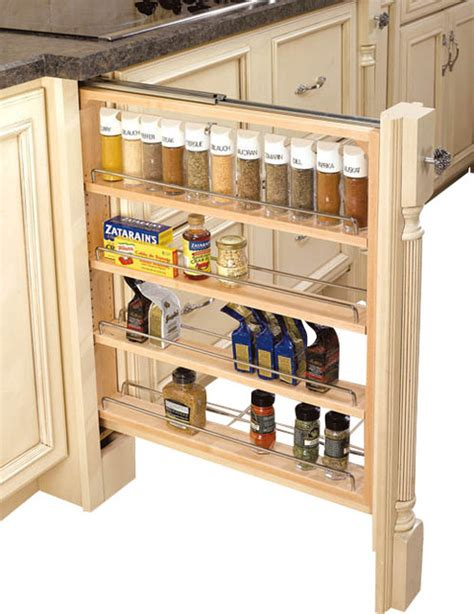 Kitchen Cabinet Storage Shelves 3 Inch Wood Base Cabinet Pullout Filler With Adjustable Shelves Contemporary Kitchen Drawer