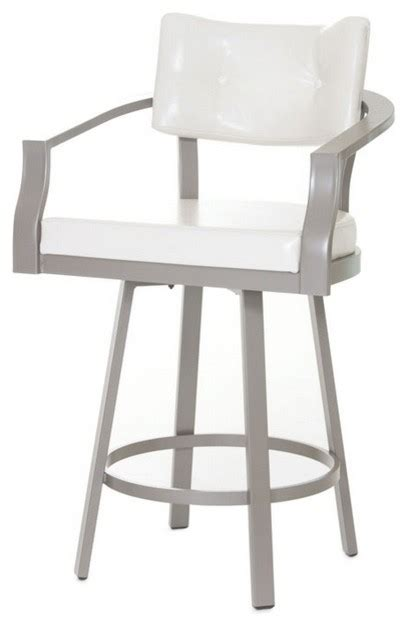 Bar Height Stools With Back Curved Back Swivel Stool Counter Height 26