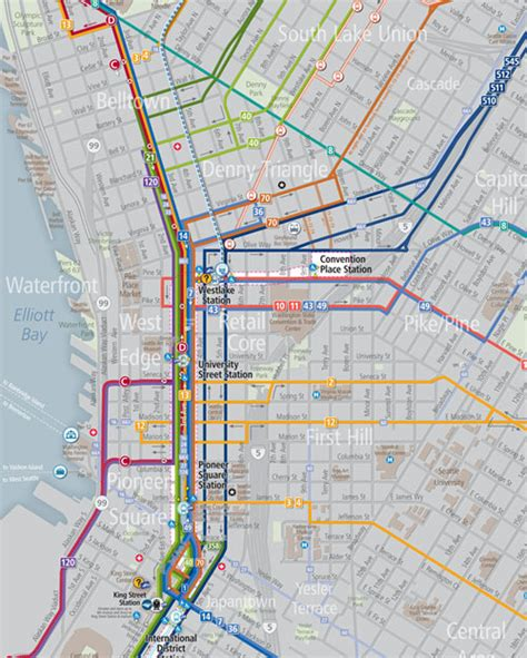 seattle map downtown getting around seattle schedules maps king county