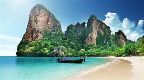 wallpaper railay beach rai leh peninsula thailand