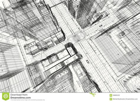 house architecture plan stock photography image 5591532 city buildings project 3d wireframe print urban plan