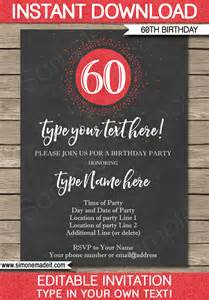 60th birthday invitations templates 60th birthday invitations template chalkboard glitter