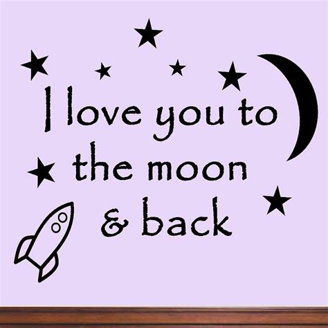 I You To The Moon And Back Baby Shower by I You To The Moon And Back Again Baby Nursery Wall