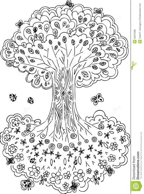 193 Rvore De Vida Preto E Branco Coloring Book Cd L