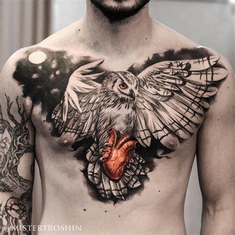 tattooed heart top best 25 owl tattoo chest ideas on pinterest tattoo