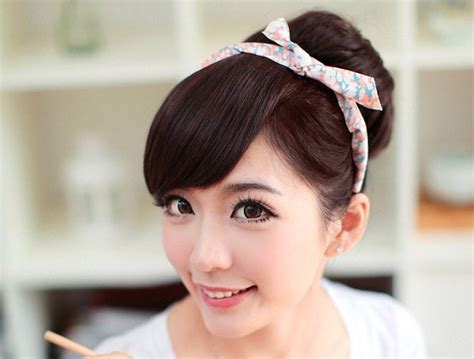 Bando Pita Dengan Rambut Poni termurah kualitas hair clip curlywave 3 layer ombre big layer bando wig bangs poni