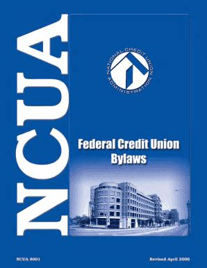 Credit Union Form 5300 Fillable Ncua Federal Credit Union Bylaws Rev 4 06 71 Federal Register 24551