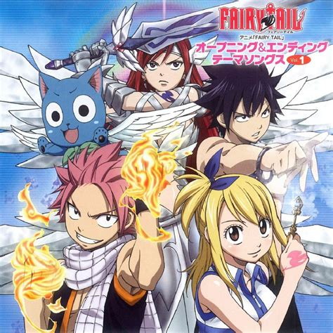 theme songs in fairy tail fairy tail opening ending theme songs vol 1