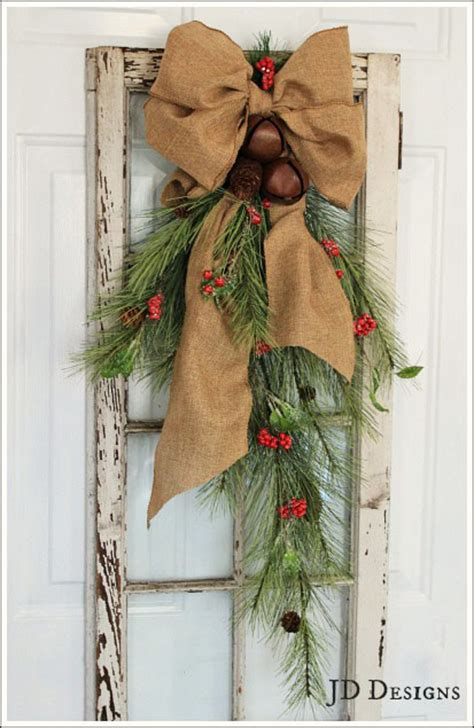 how to make xmas cedar swags 30 burlap decorations embellishing your home with a rustic appeal diy projects