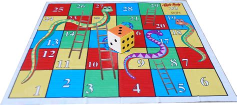 Snakes And Ladders Mat by Atpata Funky 6x6 Ft Mat Snakes Ladders Dice 5inch Board