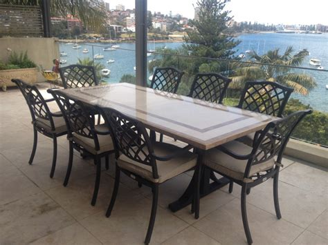 marble patio furniture outdoor dining table eldesignr