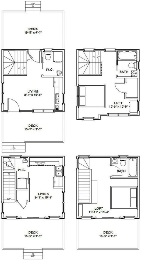 16x16 tiny houses pdf floor plans 466 sq ft 463 sq 16x16 1 bedroom 1 5 bath tiny houses pdf by