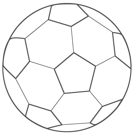 soccer ball outline clipart best