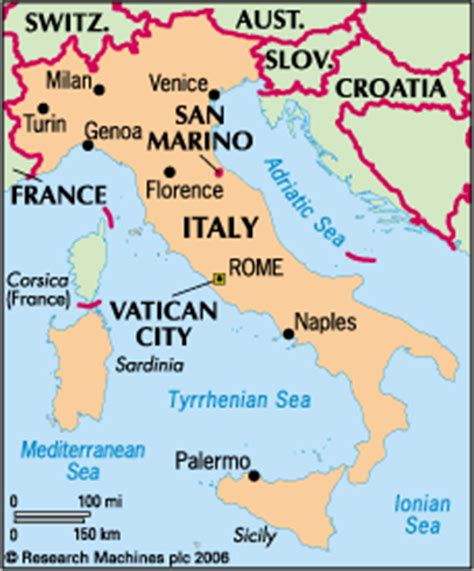 vatican city map italy italy statesman s yearbook