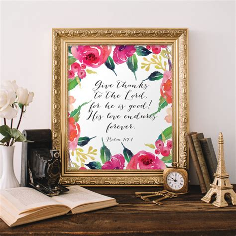 christian wall decor christian wall give thanks to the lord for he is