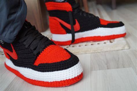 jordans slippers crochet nike air 1 retro home shoe michael
