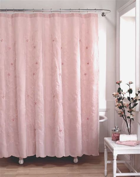 shabby shower curtain lola shabby chic fabric shower curtain curtainworks com