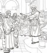 coloring pages jesus before pilate pontius pilate asks the crowd coloring page free