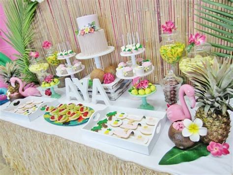 birthday themes hawaii hawaiian luau themed first birthday party via kara s party
