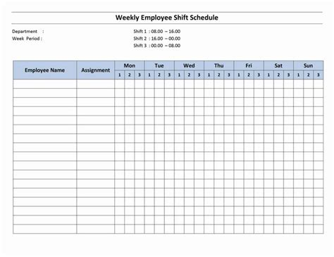 organizing schedule template free monthly work schedule template weekly employee 8