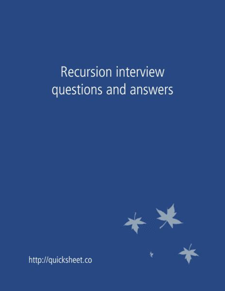 recursive pattern questions recursion interview questions and answers interviewsteps