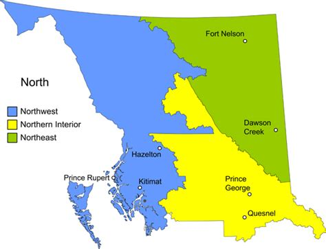 Interior Bc Map by Geographic Regions Of Columbia