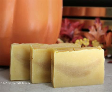 Handmade Soap Recipes - pumpkin soap recipe the nerdy farm