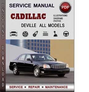 cadillac deville service repair manual download info