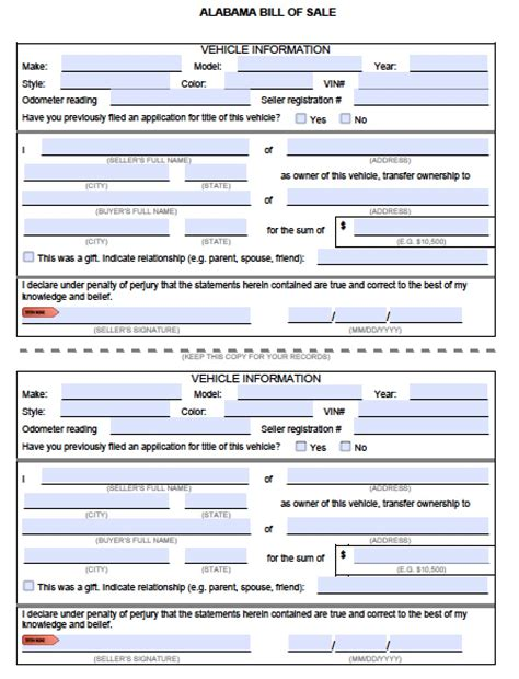 florida register boat without title free alabama mvd bill of sale form pdf word doc