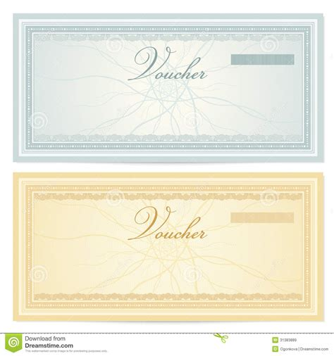 best photos of gift certificate voucher template