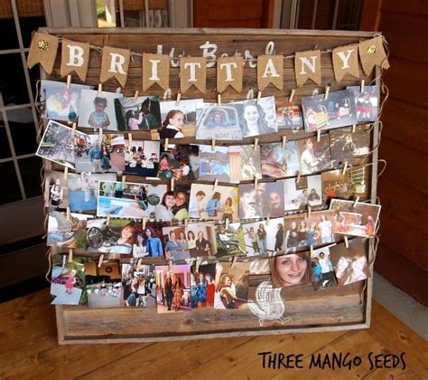 table picture display ideas three mango seeds photo display board senior table
