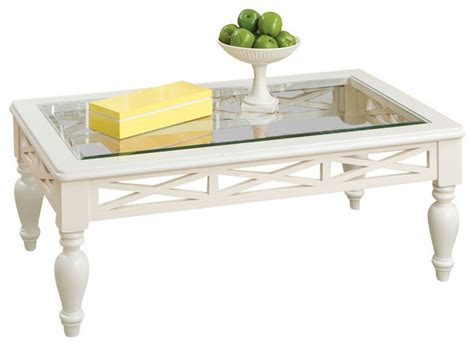 White Coffee Table Set by Standard Furniture Cambria 3 Glass Top Coffee Table