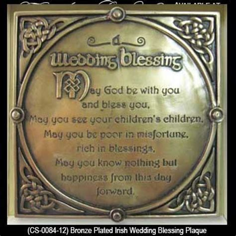 Irish Wedding Blessing Plaque   Bronze, Trinity Knots, Gifts