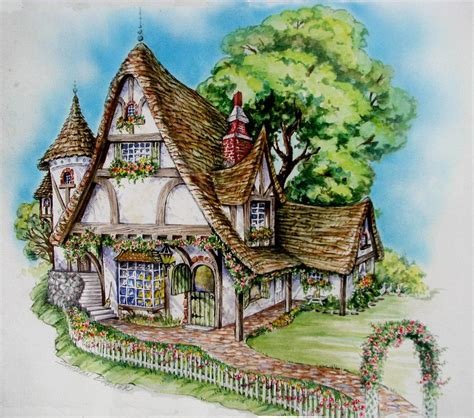 Apps For Floor Plans Ipad by Tudor Cottage Painting By Sharon Barner