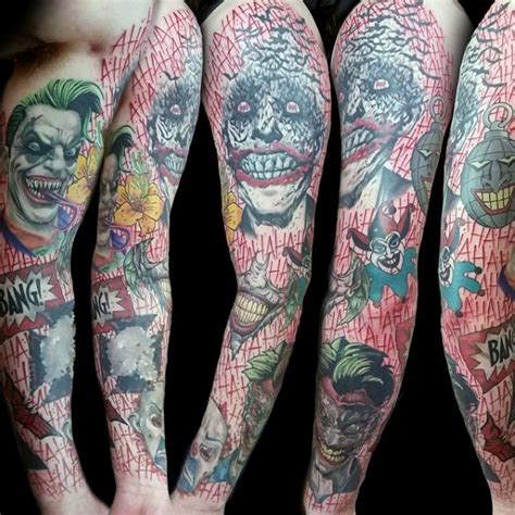 Joker Themed Tattoo | 90 joker tattoos for men iconic villain design ideas
