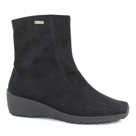 rohde low wedge waterproof ankle boot shoes gb