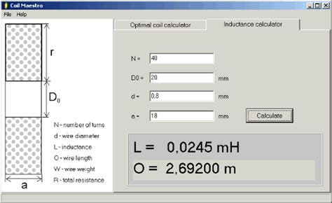 coil maestro freeware coil solenoid calculator