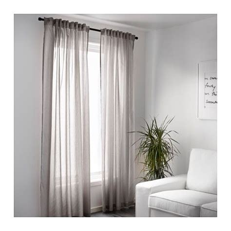 Ikea Vivan White Curtains Inspiration Vivan Curtains 1 Pair Ikea The Curtains Let The Light Through But Provide Privacy So They Are