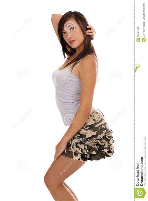 young girl short dress stock photos images pictures young asian american teen girl short skirt stock image