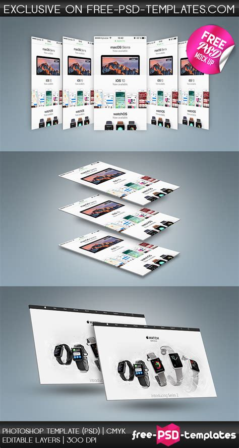 photoshop templates for presentation free psd wеb and mobile presentation mockup in psd free