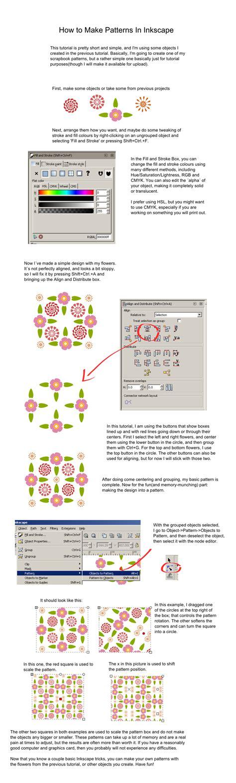 Tutorial Inkscape Vetorização | inkscape pattern tutorial by sanjouin dacapo on deviantart