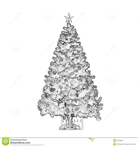 193 rbol de navidad blanco y negro imagen de archivo imagen