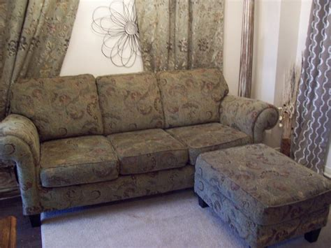 Green Couches For Sale by 7ft Green Sofa W Ottoman For Sale Can Deliver