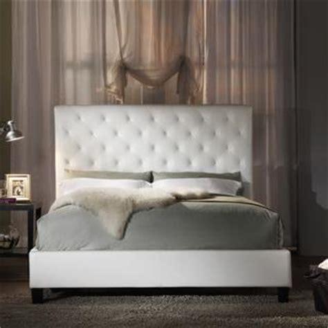 sophie white vinyl tufted full size bed overstockcom