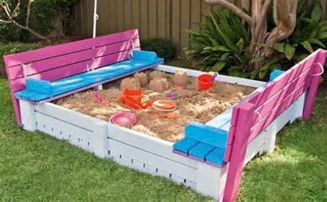 build a sandpit in your backyard 20 awesome diy outdoor play equipment for kids