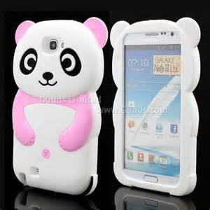 cute 3d panda silicone case for for samsung galaxy note 2