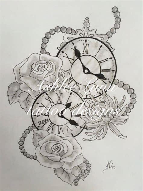 tattoo flower clock 32 beautiful clock tattoos for girls